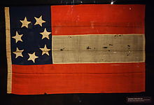 "Here is a photo of an original ""Stars and Bars"" Flag of the Confederate States of America, captured by Union Army soldiers in Columbia, South Carolina in 1861. This is the first of four official national flag designs adapted by the Confederate States of America."