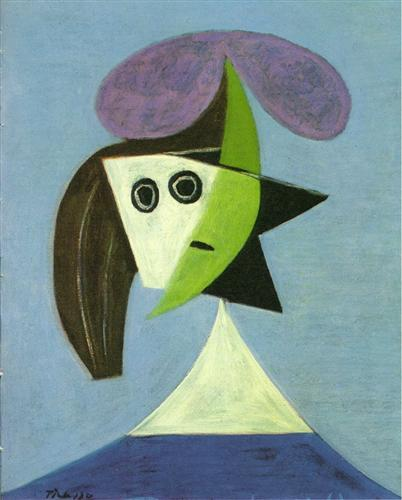 "Pablo Picasso's ""Woman with Hat (Olga)"""