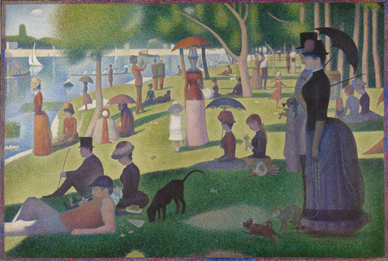 "Georges Seurat's ""Un dimanche Après-midi à l'Ile de la Grande Jatte"" (A Sunday Afternoon on the Island of La Grande Jatte)"