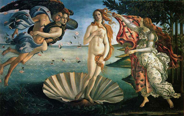 "Sandro Botticelli's ""Birth of Venus"""
