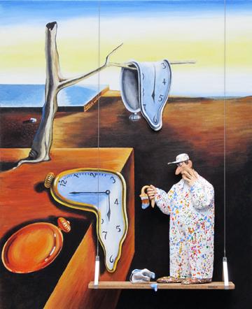 Hansen's Homage to Dali (Notice the melting paintbrush?)