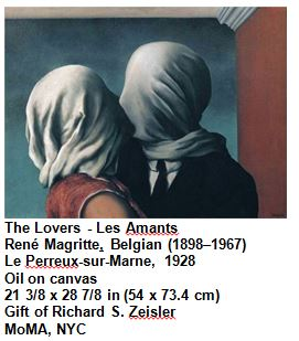 The Lovers - Les Amants René Magritte