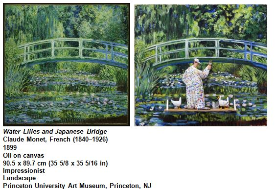 Water Lilies and Japanese Bridge Claude Monet