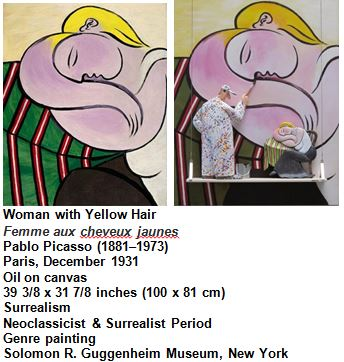 Woman with Yellow Hair Femme aux cheveux jaunes Pablo Picasso