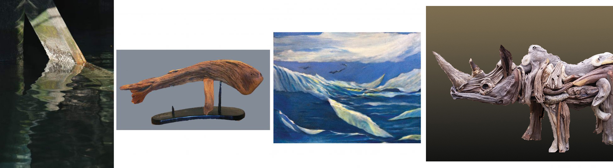 Endangered, sculpture by Larry Ringgold and paintings by Nancy Nesvet