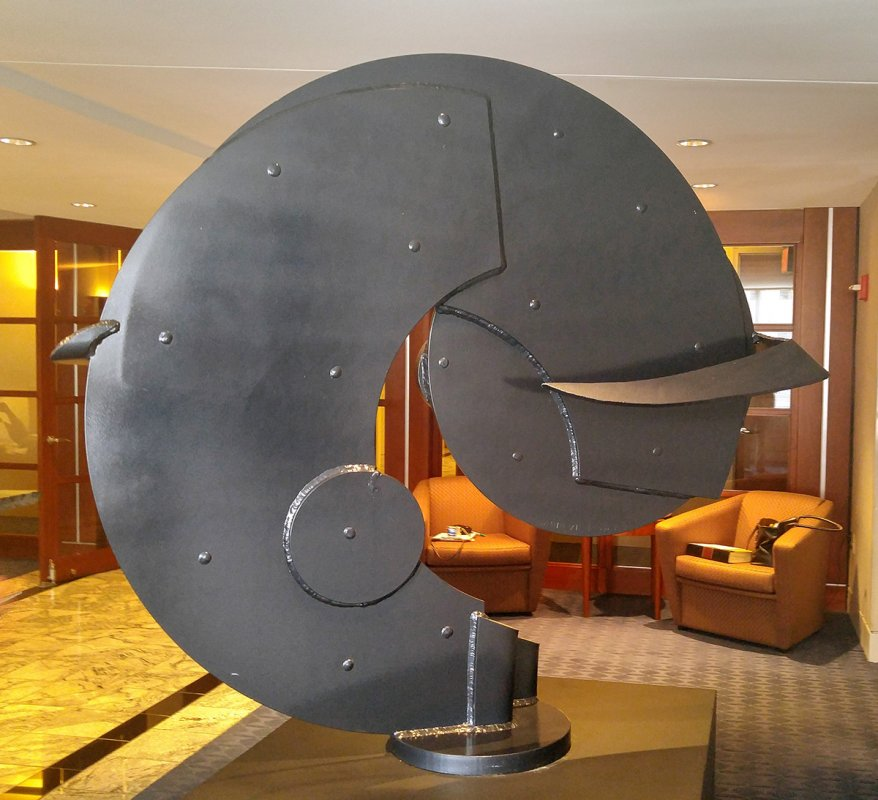 Steel sculpture, by Chas Colburn